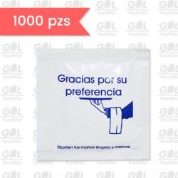 """Toallita Refrescante: """"Gracias por su preferencia"""""""