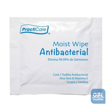 Toallita Húmeda Germicida/Antibacterial en sobre Individual (papel)